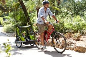 Remorque à vélo pour enfants vert