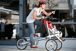 transporter son bébé sur un vélo