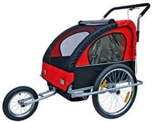 remorque vélo bébé samax rouge
