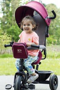 Tricycle poussette pour enfants kinderkaft utilisation