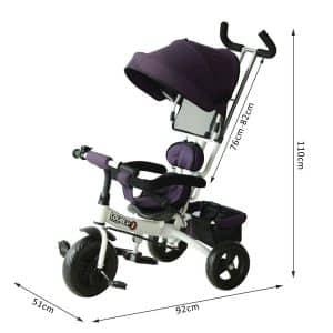 poussette Tricycle Enfant Evolutif HomCom présentation
