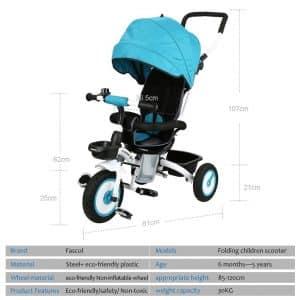 tricycleBébé Evolutif Pliable Poussette Fascol présentation