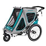 Qeridoo Speed Speedkid2–2018Remorque pour vélo, aquamarine