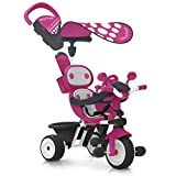 Smoby - 740600 - Baby Driver Confort - Tricycle Evolutif avec Roues Silencieuses - Dispositif Roue Libre et Verrouillage Guidon - Rose